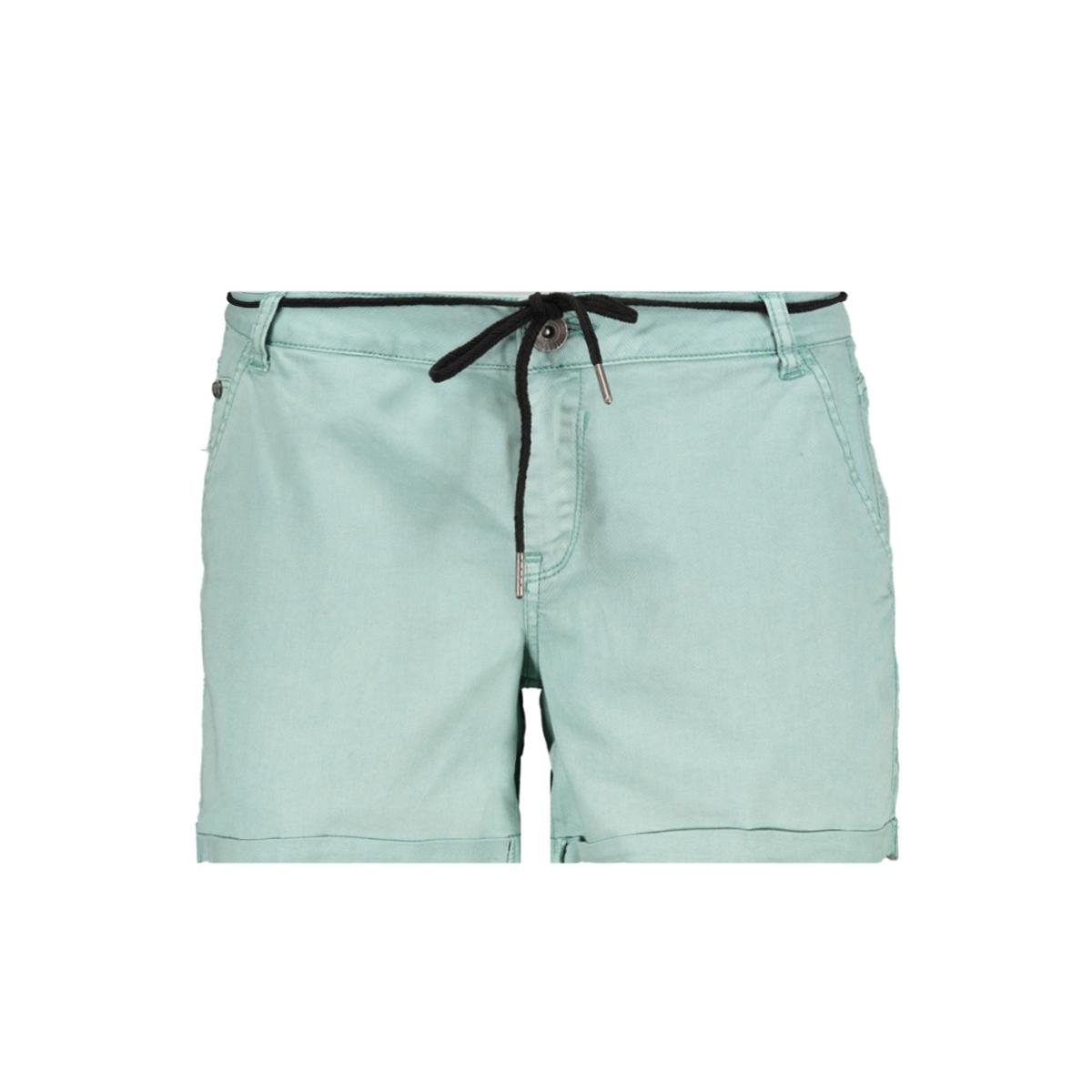 mintgroene short met taillekoord gs900112 garcia korte broek 2715 perfect mint