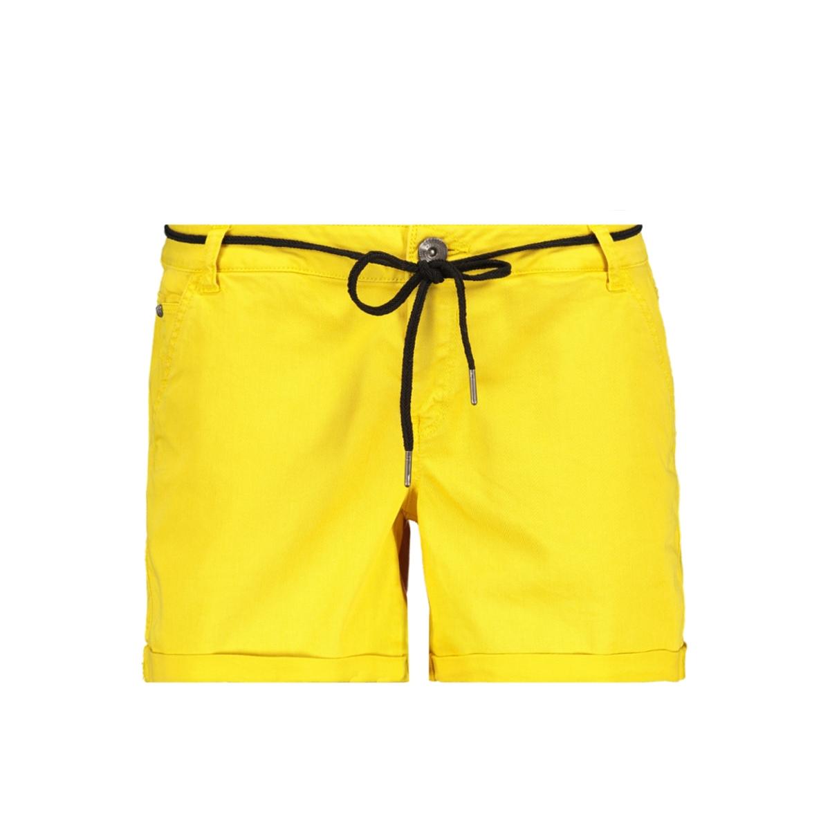 gele short  met koord ceintuur gs900112 garcia korte broek 3065 sulphur