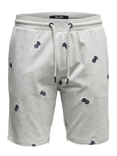 Only & Sons Korte broek onsSANTIAGO AOE SWEAT SHORTS 22013352 Light Grey Melange
