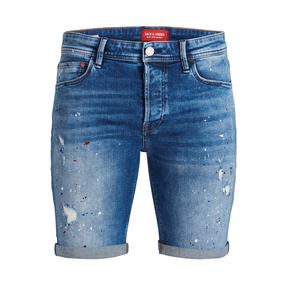jjirick jjalpha shorts jos 896 50sp 12153607 jack & jones korte broek blue denim