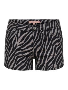 onlannika reg summer print shorts p 15176800 only korte broek black/zebra/leo