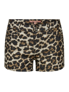 onlannika reg summer print shorts p 15176800 only korte broek black/leo