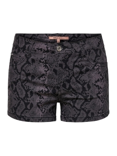 Only Korte broek ONLANNIKA REG SUMMER PRINT SHORTS P 15176800 Black/SNAKE