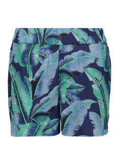pcnadine hw shorts 17098131 pieces korte broek maritime blue/leafs