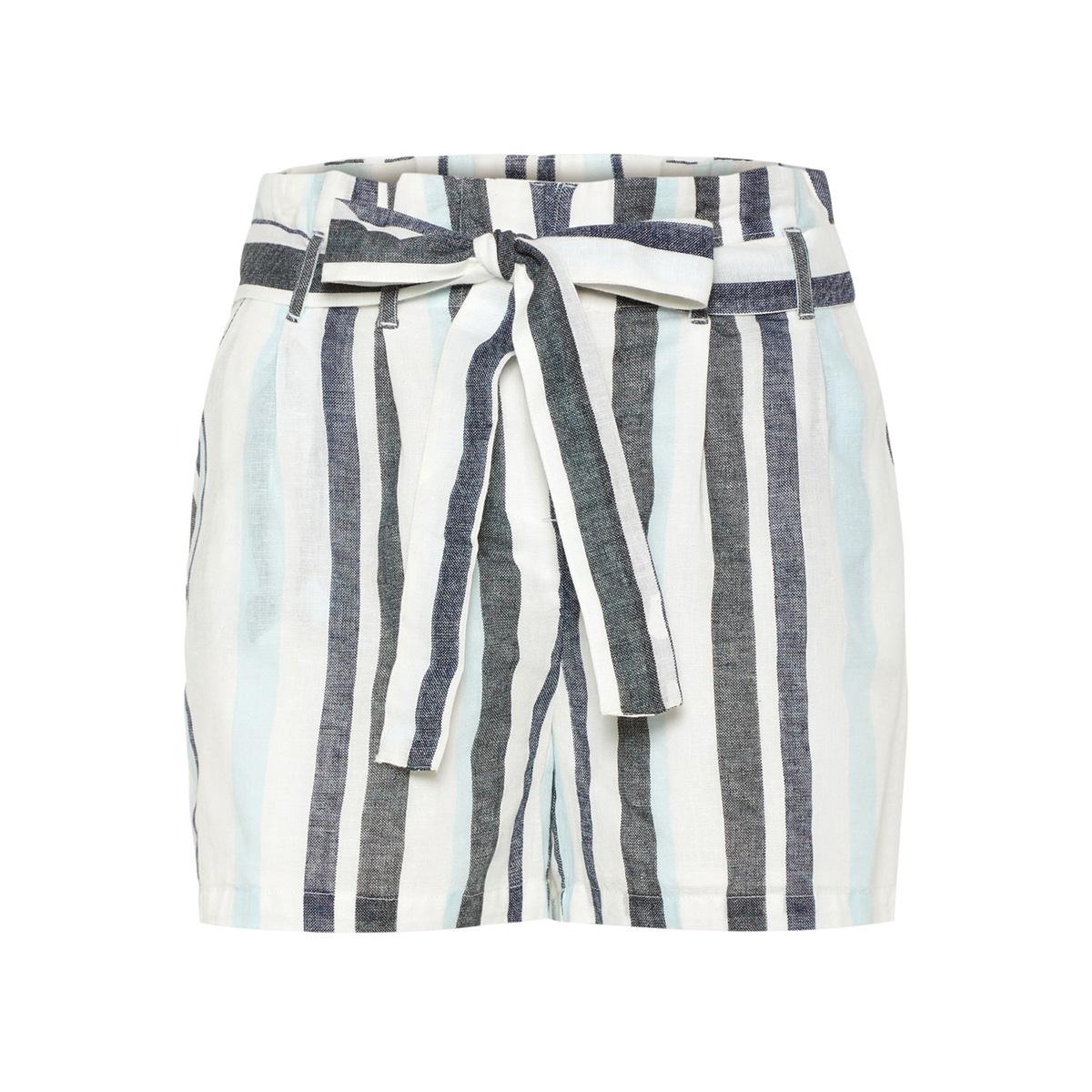 vmtavi nw shorts wvn  10209804 vero moda korte broek snow white/cool blue