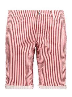 Mac Korte broek SHORTY DARK RED STRIPE SUMMER CLEAN 2387 00 0371 452S LIPSTICK RED STRIPE
