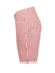 shorty dark red stripe summer clean 2387 00 0371 mac korte broek 452s lipstick red stripe