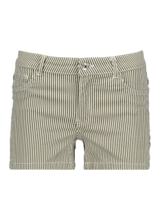 Only Korte broek ONLLANEY REG STRIPED SHORTS PNT 15179192 Crocodile/White