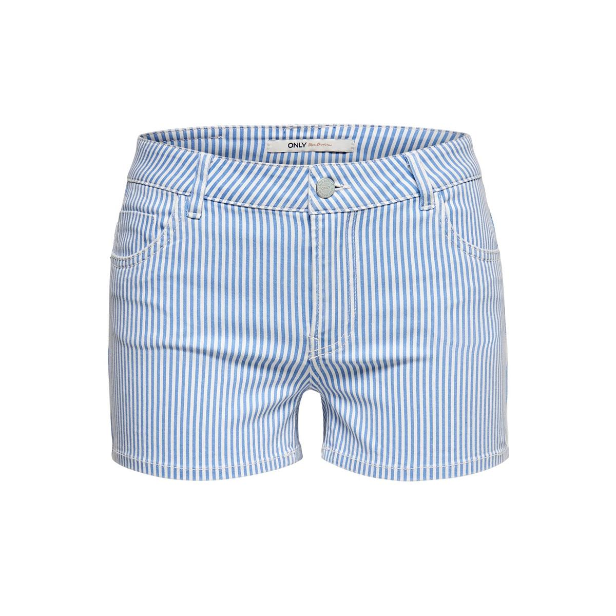 onllaney reg striped shorts pnt 15179192 only korte broek marina/white