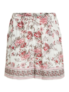 Vila Korte broek VITROPAZ SHORTS 14054713 Cloud Dancer/FLOWERS