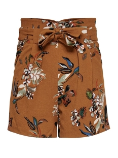 Only Korte broek ONLPIPER HW PAPERBAG AOP SHORTS TLR 15178334 Sugar Almond/LA FLOWER