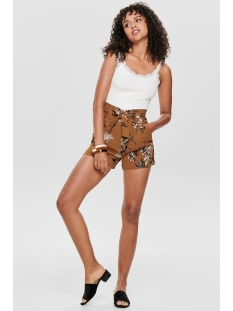 onlpiper hw paperbag aop shorts tlr 15178334 only korte broek sugar almond/la flower