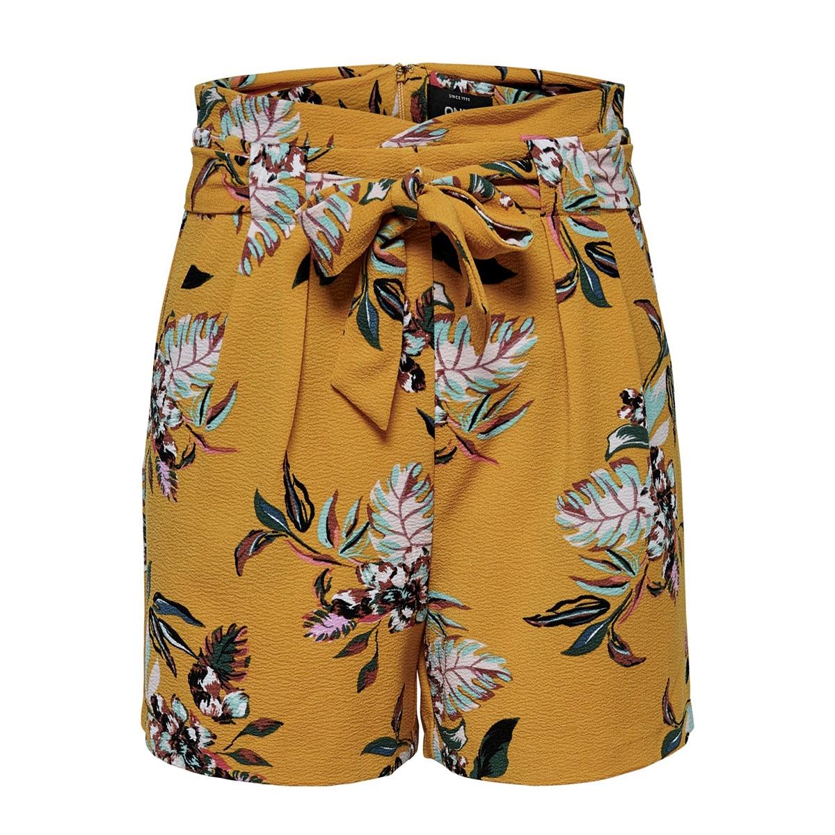 onlpiper hw paperbag aop shorts tlr 15178334 only korte broek golden yellow/la flower