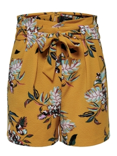Only Korte broek ONLPIPER HW PAPERBAG AOP SHORTS TLR 15178334 Golden Yellow/LA FLOWER
