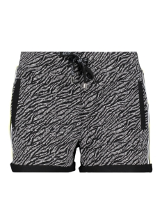 SPORTY SHORT WITH ALLOVER 193 BLACK/YELLOW