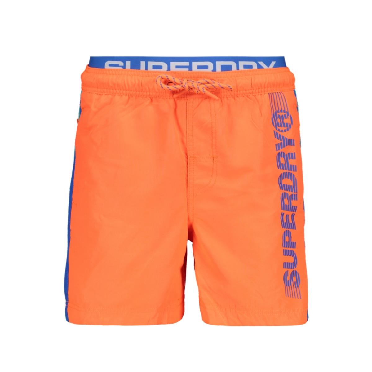 volley swim short m30102au superdry korte broek havana orange