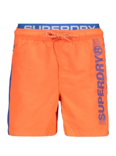 Superdry Korte broek VOLLEY SWIM SHORT M30102AU HAVANA ORANGE