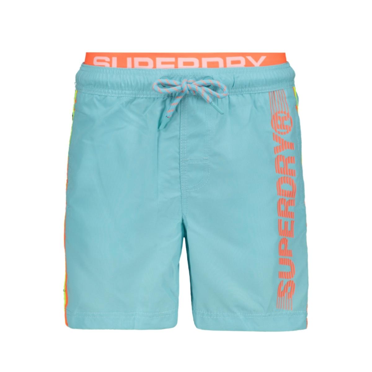volley swim short m30102au superdry korte broek lagoon blue