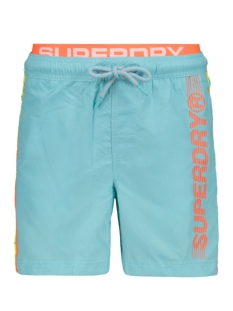 Superdry Korte broek VOLLEY SWIM SHORT M30102AU LAGOON BLUE