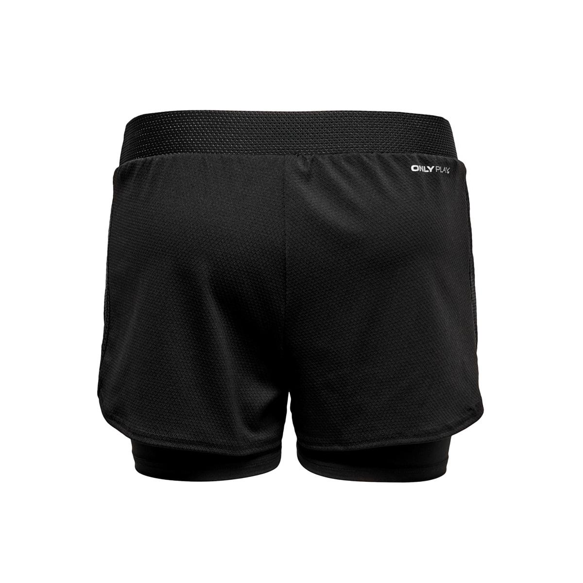 onpjoelle loose training shorts 15175693 only play sport short black/w. black