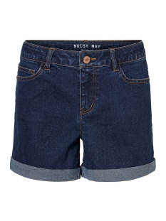 nmbe lucy nr den fold shorts gu813 27002695 noisy may korte broek dark blue denim