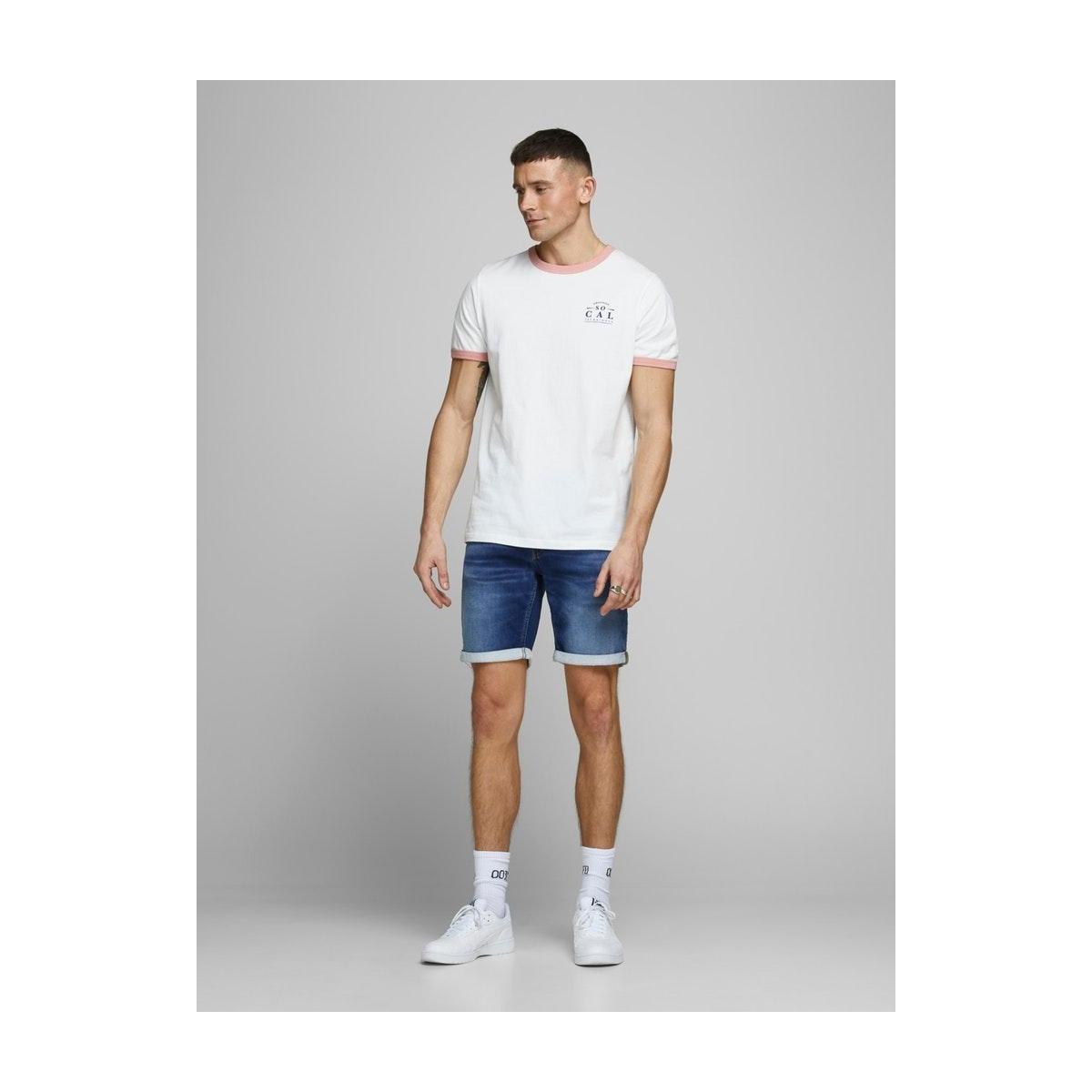 jjirick jjicon shorts ge 006 i.k st 12166269 jack & jones korte broek blue denim