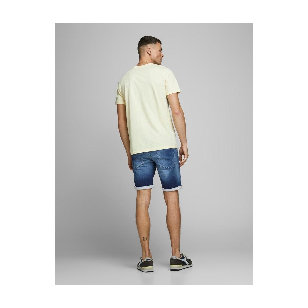 jjirick jjicon shorts ge 007 i.k st 12166270 jack & jones korte broek blue denim