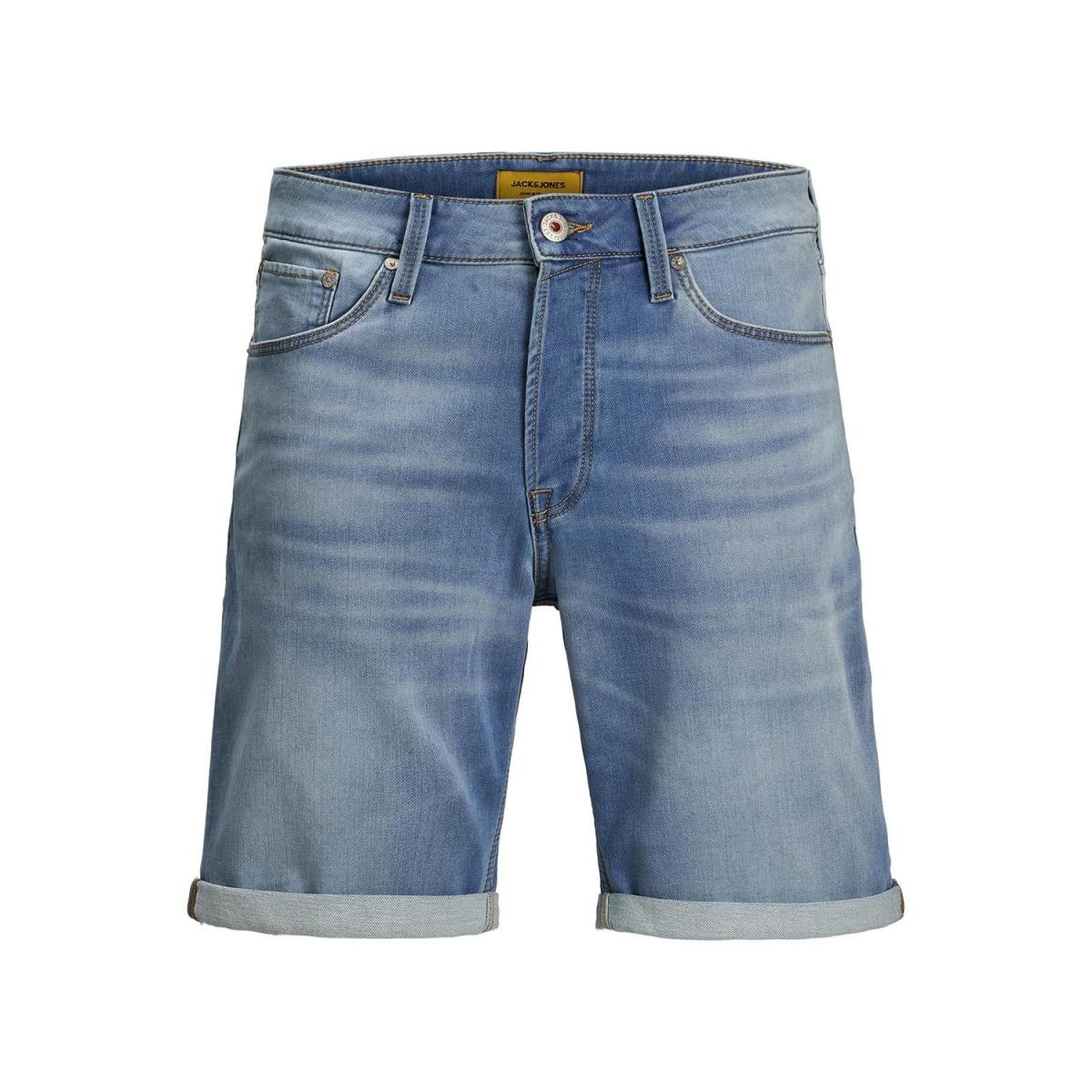 jjirick jjicon shorts ge 003 i.k st 12166263 jack & jones korte broek blue denim