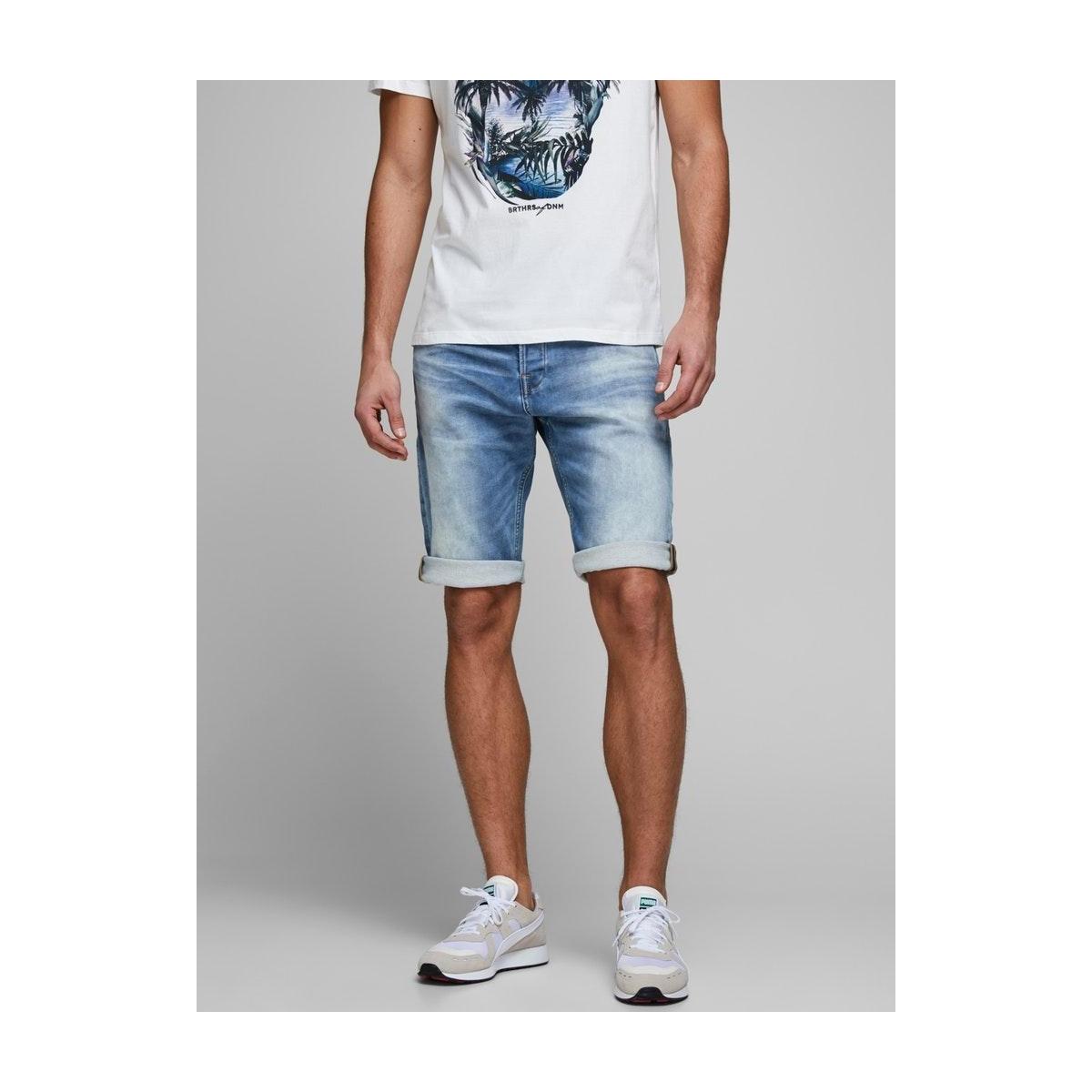 jjirex jjlong shorts ge 022 i.k 12166430 jack & jones korte broek blue denim