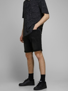 jjirick jjicon shorts ge 010 i.k st 12166274 jack & jones korte broek black denim