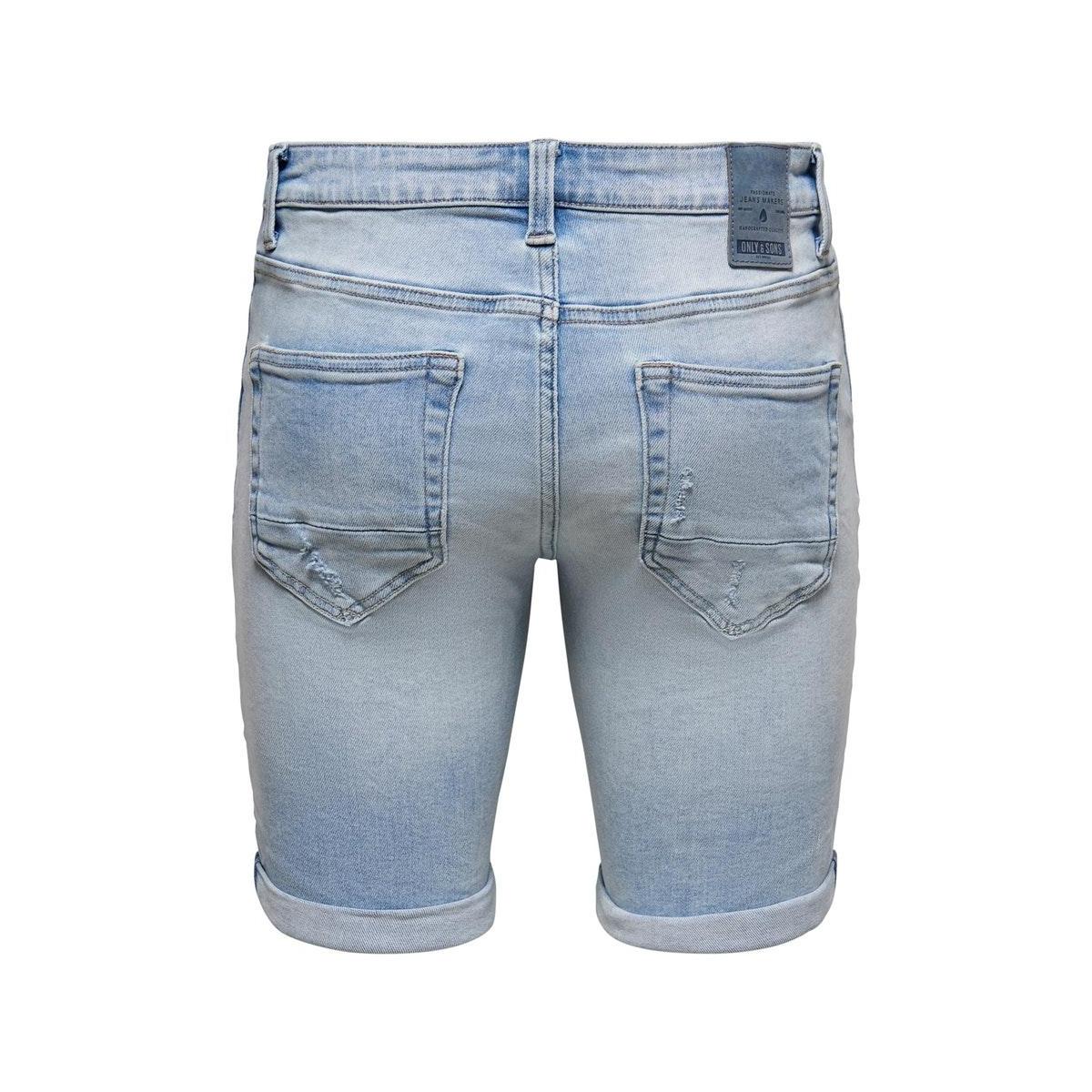 onsply reg life l blue ld pk 554 22015541 only & sons korte broek blue denim