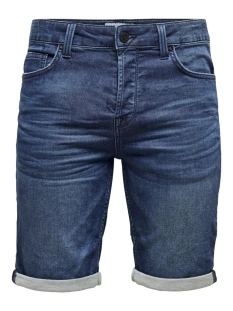 onsply reg d blue sw pk 5230 noos 22015230 only & sons korte broek blue denim