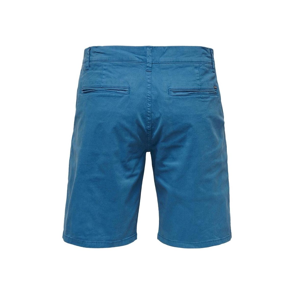 onsholm chino shorts  pk 2174 noos 22012174 only & sons korte broek dark blue