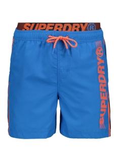 Superdry Korte broek VOLLEY SWIM SHORT M3010010A WEEKEND BLUE