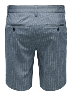 onsmark shorts stripe gw 6552 22016552 only & sons korte broek dress blues