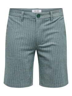 onsmark shorts stripe gw 6552 22016552 only & sons korte broek hunter green
