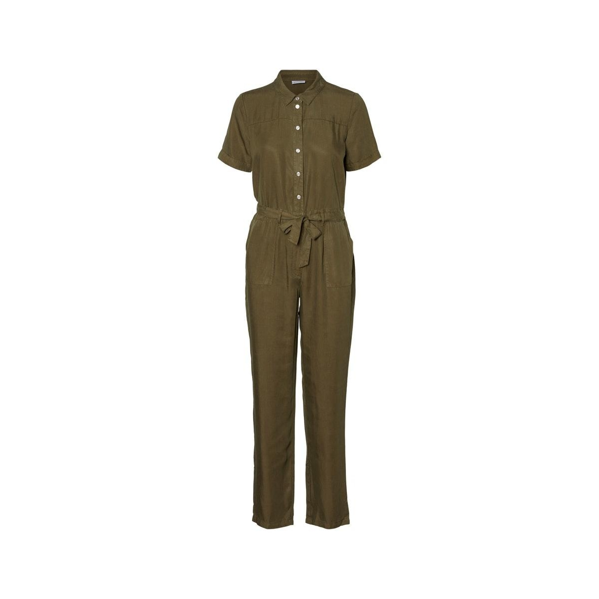 nmsophie l/s endi utility jumpsuit 27011302 noisy may jumpsuit olive night