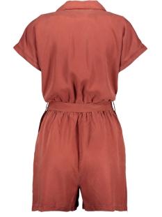 nmnathalie s/s endi belt playsuit b 27011303 noisy may jumpsuit burnt henna