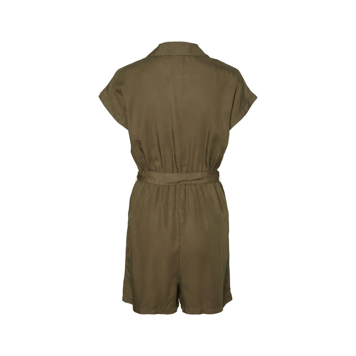 nmnathalie s/s endi belt playsuit b 27011303 noisy may jumpsuit olive night
