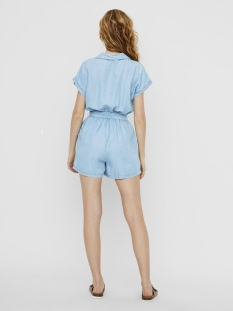 nmnathalie s/s endi belt playsuit b 27011303 noisy may jumpsuit light blue