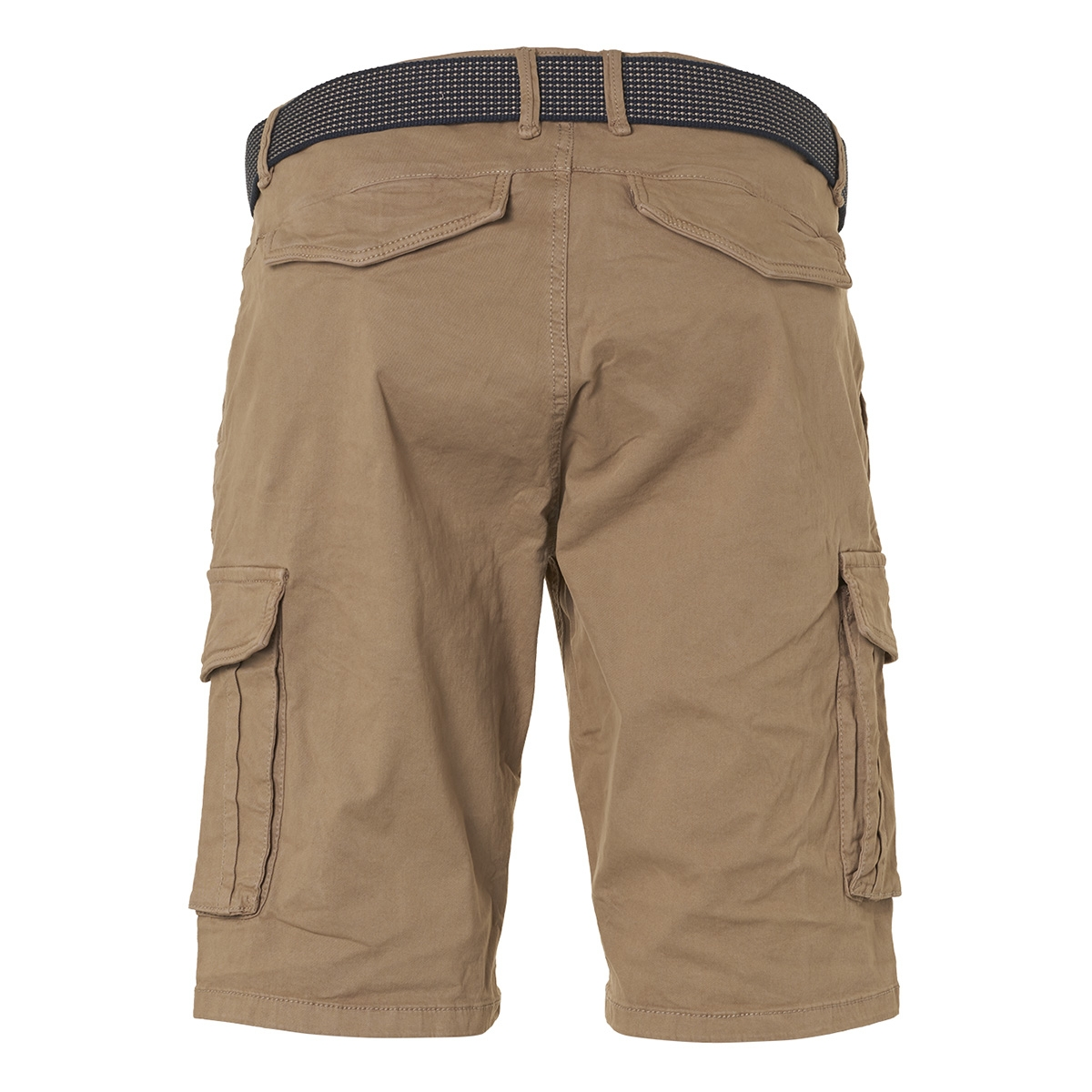 twill dyed stretch shorts with belt 958190389 no-excess korte broek 043 khaki