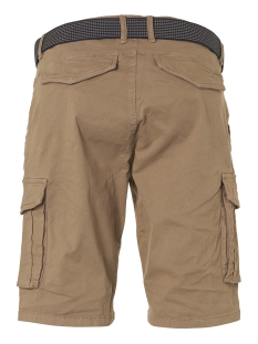 twill dyed stretch shorts with belt 958190389 no-excess korte broek 043 khaki