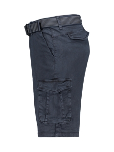 twill dyed stretch shorts with belt 958190389 no-excess korte broek 078 night