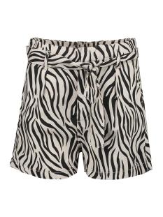 paperbag short met zebraprint p00343 garcia korte broek 8832 sandshell