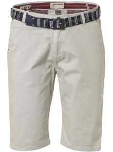 twill satin stretch shorts with belt 958190391 no-excess korte broek 017 chalk