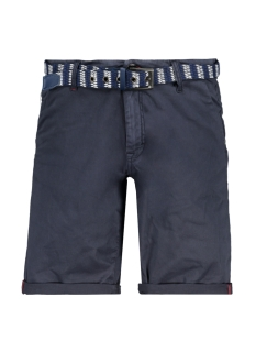 twill satin stretch shorts with belt 958190391 no-excess korte broek 078 night