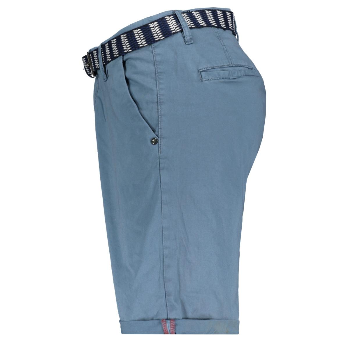 twill satin stretch shorts with belt 958190391 no-excess korte broek 123 steel
