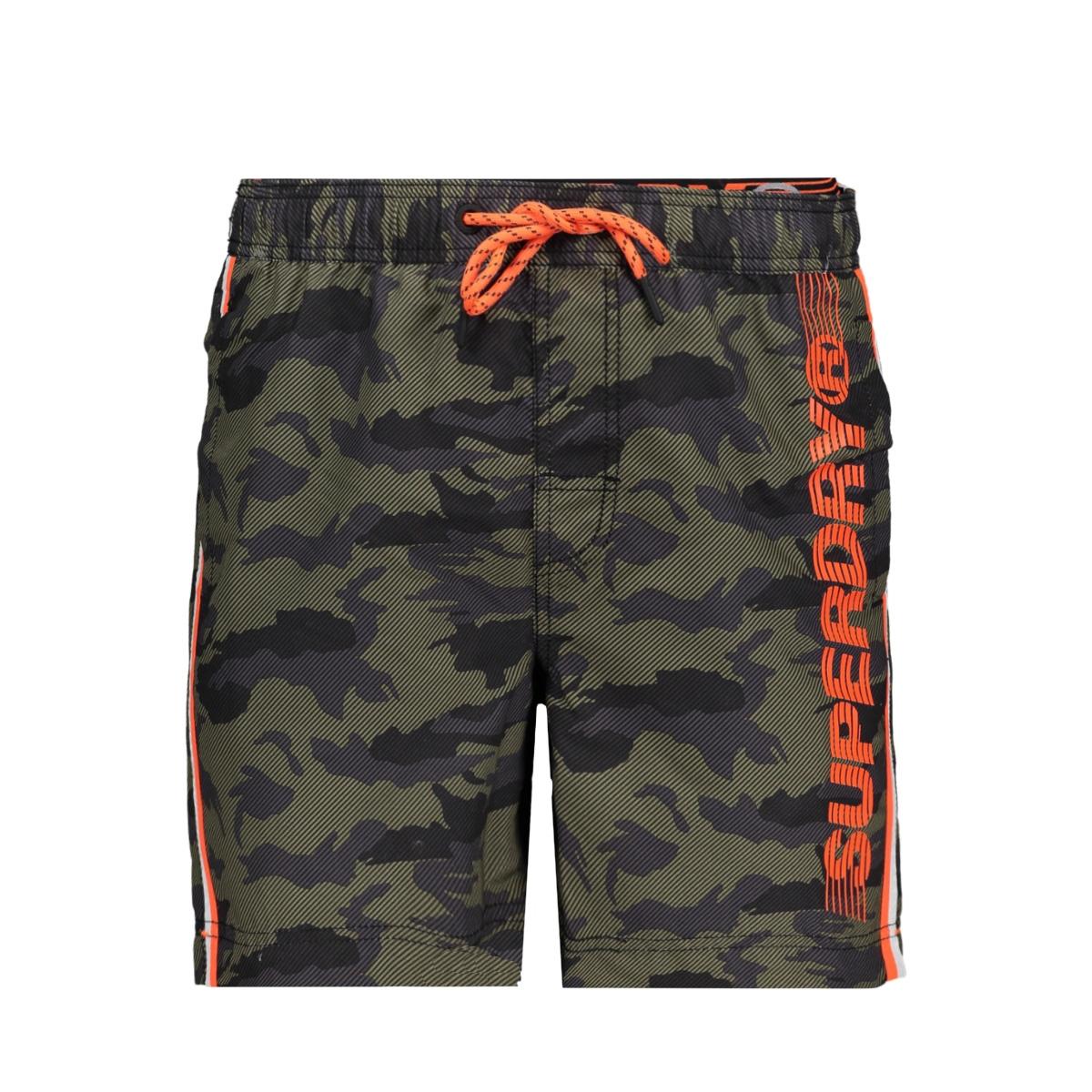 volley swim short m3010010a superdry korte broek camo