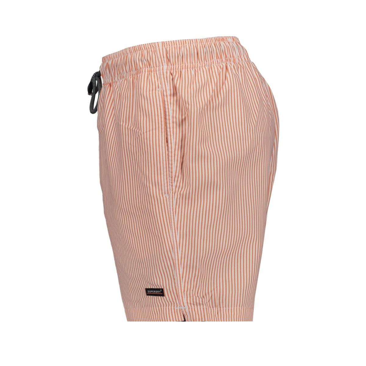 edit swim short m3010006a superdry korte broek orange sripe