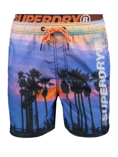Superdry Korte broek VOLLEY SWIM SHORT M3010010A SKATE PALM